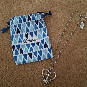 Brighton silver heart anchor necklace